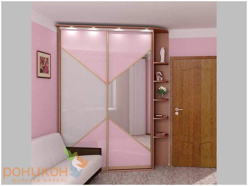 Шкаф в маленькую комнату фото